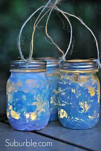 mason jar lantern Crafty Kids: DIY Mason Jar Lanterns - Suburble