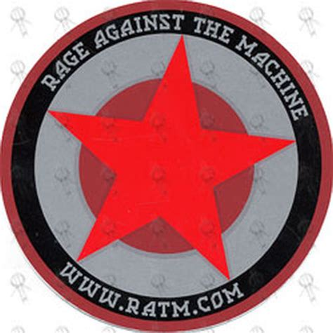 RAGE AGAINST THE MACHINE - Star Design Logo Sticker ...