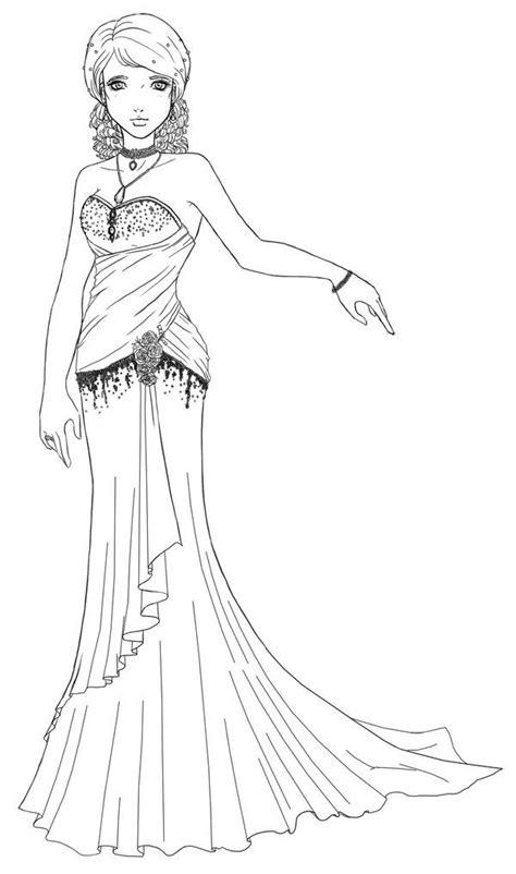 Scarlett - Wedding Dress Lineart by Khadrimx.deviantart