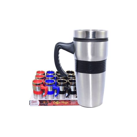 24 Units of Coffee Mug Insulated with handle & Grip   at   alltimetrading.com