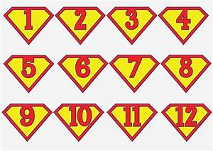 printable superman birthday banner for a super hero With superman alphabet template