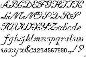 Fontscape Home > Simulation > Needlework > Script