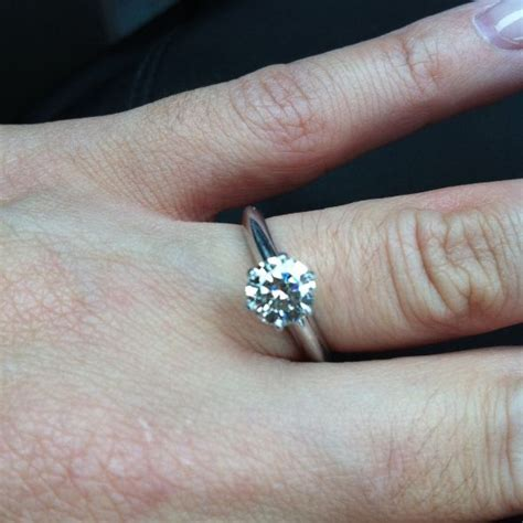 who has just a plain ol regular engagement ring