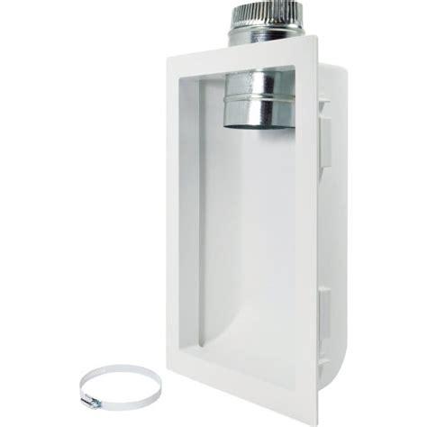 deflecto  wall dryer vent box   diameter aluminum