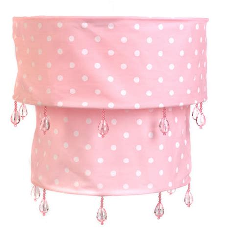 pink l shade pink polka dot fabric pendant light shade with acrylic