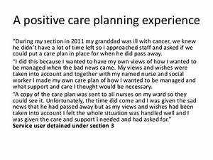 CQC Mental Heal... Care Plan Quotes