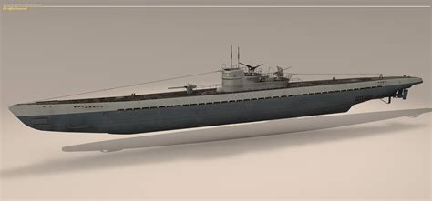 U Boat Submarine by Type Ix U Boat Submarine 3d Model Max 3ds Fbx C4d Dxf