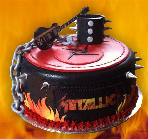 metallica birthday cake metallica inspiration