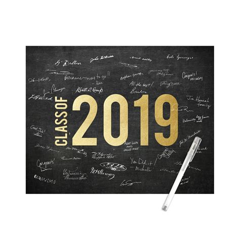 glowing year small graduation signature poster pear tree