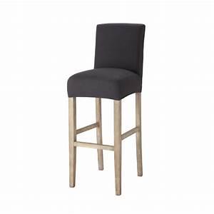Housse Chaise De Bar : housse de chaise de bar en coton anthracite boston maisons du monde ~ Teatrodelosmanantiales.com Idées de Décoration
