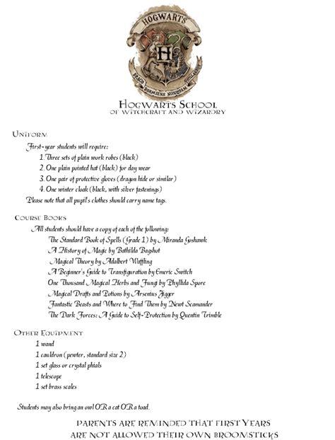 Hogwarts Letter Template Hogwarts Acceptance Letter Template 6jezwqxm Hp