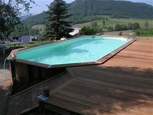 Piscine Avec Terrasse Bois : piscines hors sol pas cher achat vente acheter liner piscine en bois rectangulaire ~ Nature-et-papiers.com Idées de Décoration