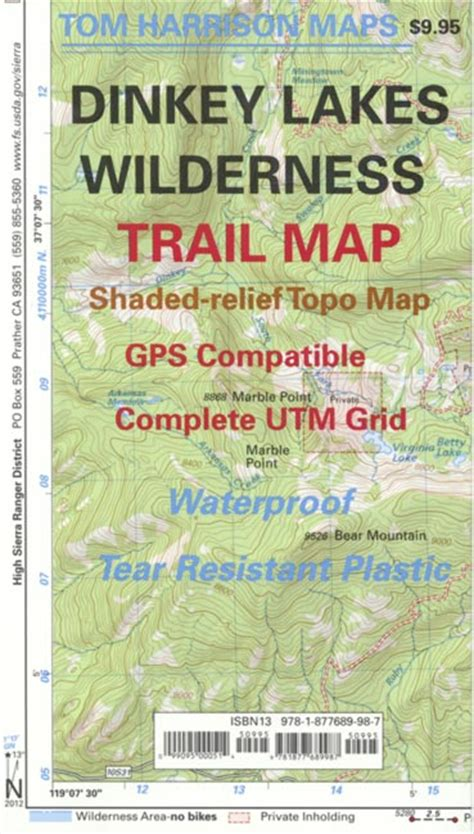 dinkey lakes wilderness trail map
