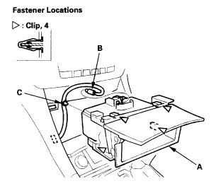 Acura Radio Panel Removal Replacement Instructions Diagram