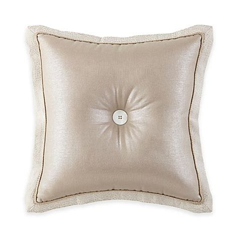 button throw pillow waterford 174 linens genevieve button square throw pillow in