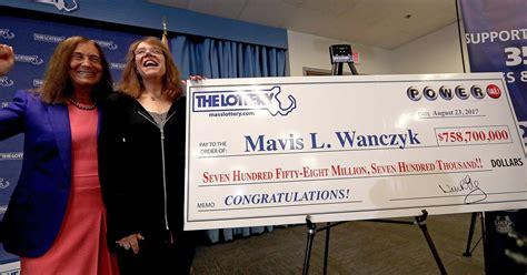 powerball winner massachusetts woman claims  jackpot
