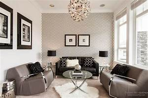 Trendy living room wallpaper ideas colors patterns and types for Wallpaper designs for living room