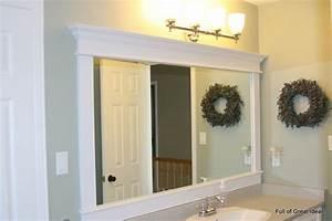 Diy bathroom mirror frame ideas large and beautiful for How to frame a bathroom mirror