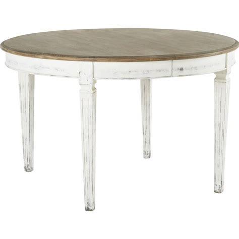 table ronde 224 rallonges 128x128 110 x78cm stockholm hanjel trendy homes