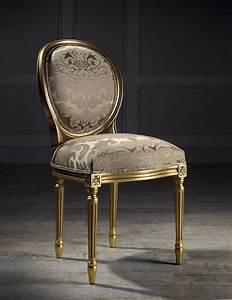 Chaise Louis Xvi : chaise m daillon de style louis xvi en tissu andrea i colecci n alexandra seated in gold ~ Teatrodelosmanantiales.com Idées de Décoration