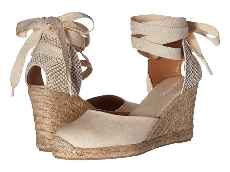 Soludos Tall Wedge Linen At Zappos.com