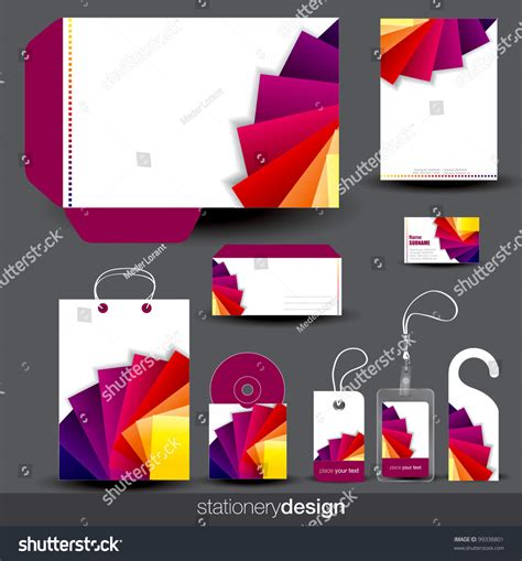 stationery template design card cd envelope stock vector