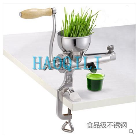 juicer wheatgrass manual hand stainless extractor grass wheat steel duty heavy amazon powered healthy juicers leafy tool diy kitchen hj