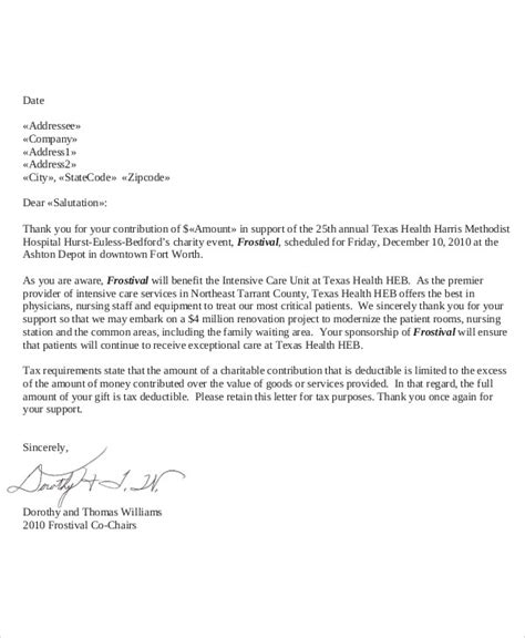 donation letter sle charity donation thank you letter sle 28 images thank