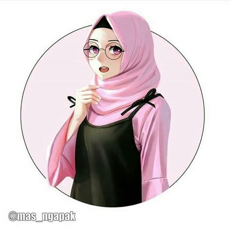 hijabers fanart   ilustrasi  gadis animasi