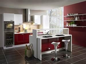 cuisine moderne deco mobilier cuisine contemporain cbel With idee deco cuisine avec prix de cuisine Équipée
