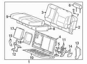 Chevrolet Silverado 2500 Hd Seat Frame  Split Bench