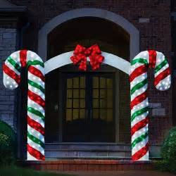 peppermint pre lit archway bow outdoor decor on sale ebay