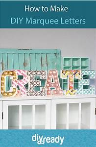 how to make diy marquee letters diy ready With how to make marquee letters