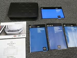 2010 Scion Tc Coupe Owner Operator Manual User Guide Set