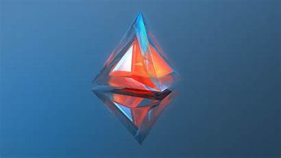 Mkbhd Abstract 3d Triangle Background Warm Digital