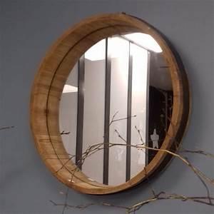 Rond En Bois : miroir rond bois ~ Teatrodelosmanantiales.com Idées de Décoration