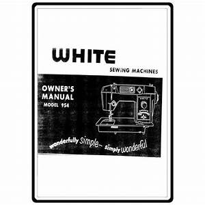 Instruction Manual  White 954   Sewing Parts Online