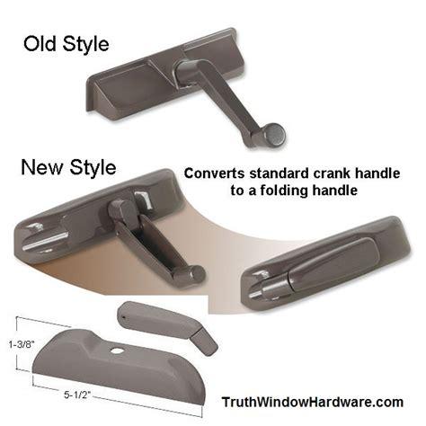 casement crank handle upgrade folding nesting handle  cover entrygard white bronze