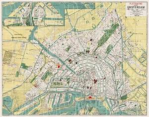 Old Map Of Amsterdam In 1927  Buy Vintage Map Replica
