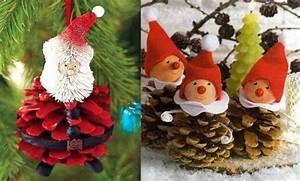 Que Faire Avec Des Pommes De Pin Pour Noel : faire des personnages en pommes de pin mod les et tutos ~ Voncanada.com Idées de Décoration