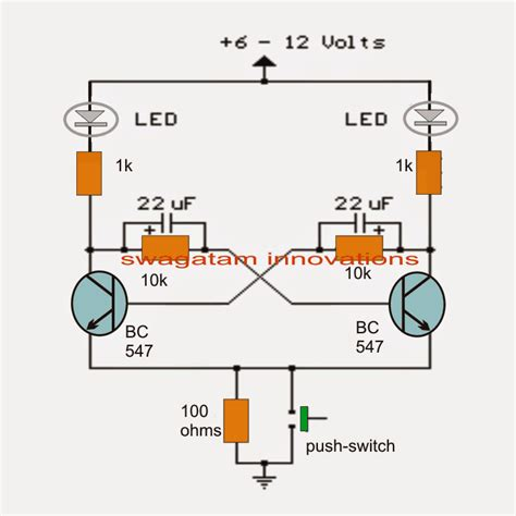 Transistor Bistable Flip Flop Homemade Circuit Projects