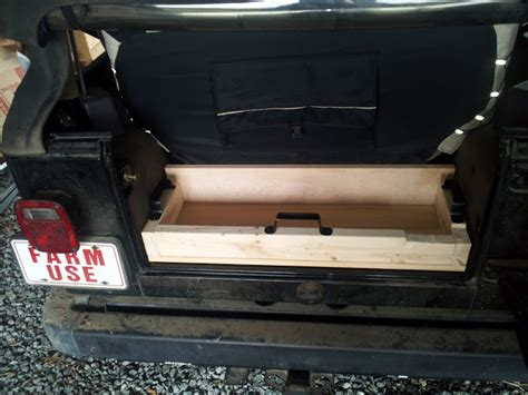 jeep wood box jeepforum com behind the rear seat wood cargo box tray