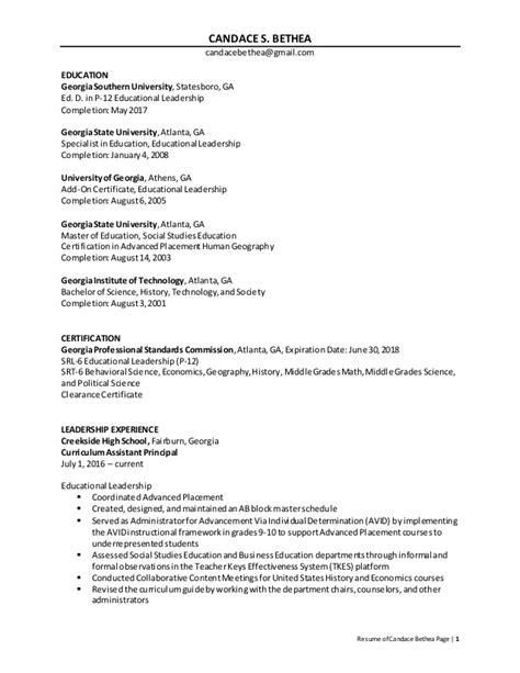 bethea resume principal revised april 2016 no address