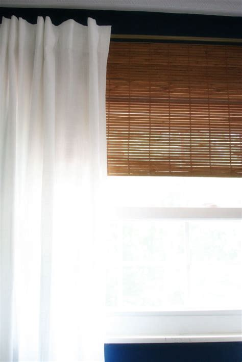cheap bamboo blinds   simple hack