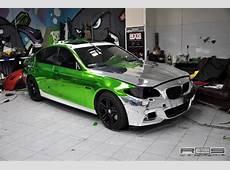 Green Chrome Wrap on BMW F10 5Series M Sport autoevolution