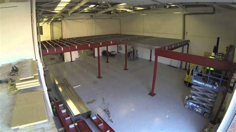 constructing  mezzanine floor  record time timelapse video youtube