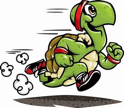 Turtle Slow Runner Clipart Running Exhausted Transparent