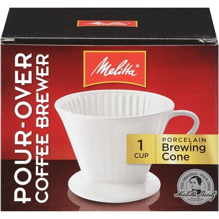 Manual brewers have become commonplace all over the coffee world, so where do you start if you want to get brewing on your own? Melitta® Pour-Over™ Porcelain Single Cup Serving Coffee Brewer Box - Walmart.com