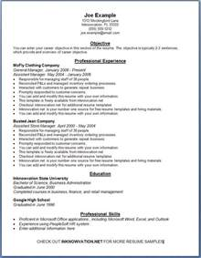 Free Sample Resume Templates Examples
