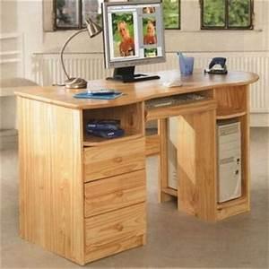 Bureau En Pin : bureau en pin bureau d angle avec rangement lepolyglotte ~ Teatrodelosmanantiales.com Idées de Décoration